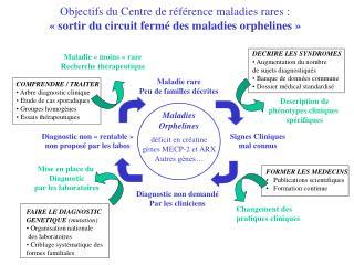 Objectifs du Centre de r f rence maladies rares :   sortir du circuit ferm  des maladies orphelines