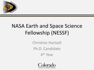 NASA Earth and Space Science Fellowship (NESSF)
