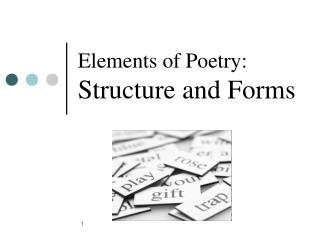 Elements of Poetry: Structure and Forms