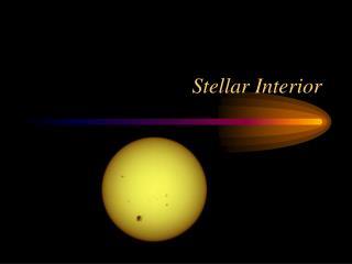 Stellar Interior