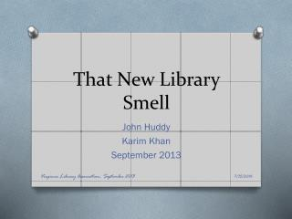 That New Library Smell