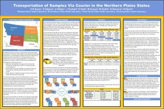 Transportation of Samples Via Courier in the Northern Plains States