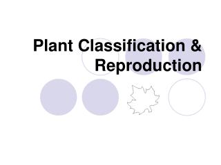 Plant Classification & Reproduction
