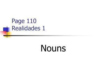 Page 110 Realidades 1
