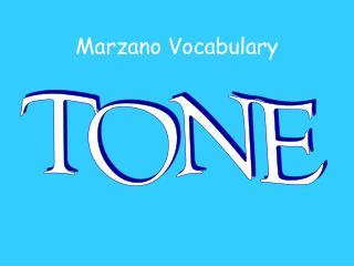 Marzano Vocabulary