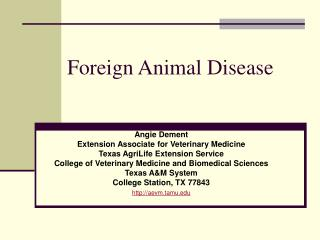Foreign Animal Disease