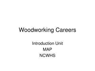 Woodworking Careers