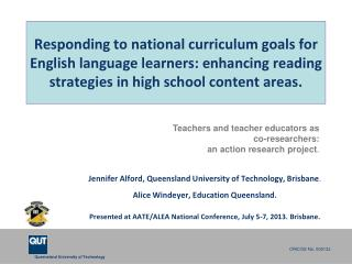 Responding to national curriculum goals for English language learners: enhancing reading strategies in high school cont