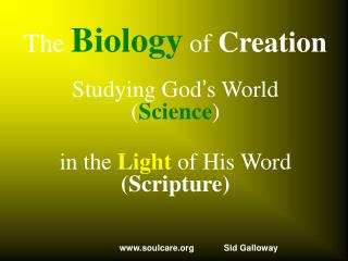 The  Biology  of  Creation