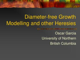 Diameter-free Growth Modelling and other Heresies