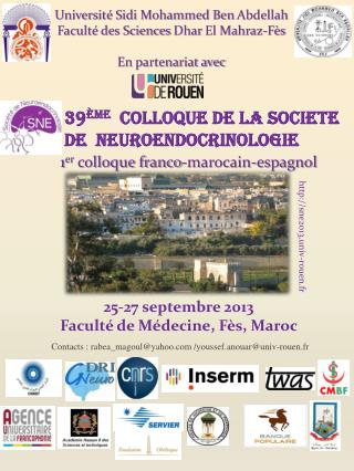 39 ème   colloque de la societe  De  neuroendocrinologie