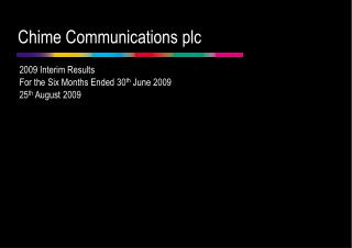 2009 Interim Results Analyst Presentation