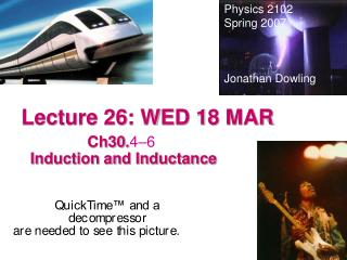 Lecture 26: WED 18 MAR