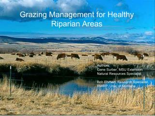 Grazing Management for Healthy Riparian Areas