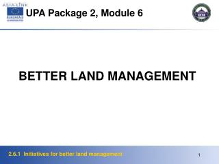 UPA Package 2, Module 6