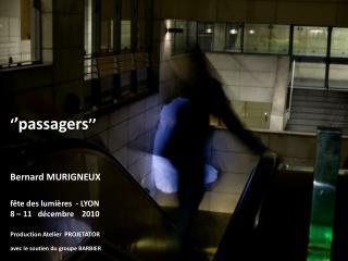 ' 'passagers ''