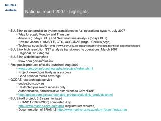 National report 2007 - highlights