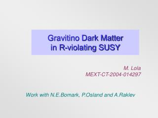 Gravitino Dark Matter  in R-violating SUSY