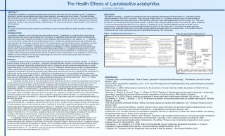 The Health Effects of  Lactobacillus acidophilus Oliver Wyckoff , Beloit College