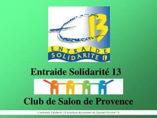 Entraide Solidarité 13