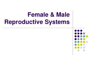 Female & Male Reproductive Systems