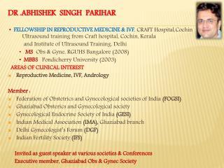 DR .ABHISHEK  SINGH  PARIHAR