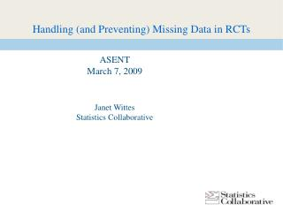 Handling (and Preventing) Missing Data in RCTs