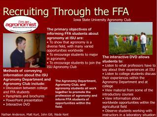Recruiting Through the FFA