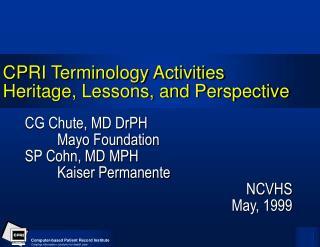 CPRI Terminology Activities