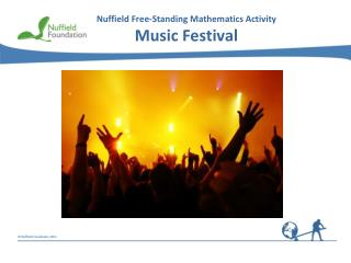 Nuffield Free-Standing Mathematics Activity Music Festival