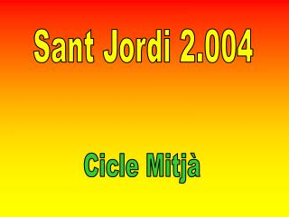 Sant Jordi 2.004
