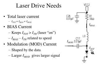 Laser Drive Needs