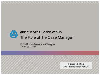 The Role of the Case Manager