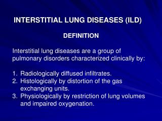 INTERSTITIAL LUNG DISEASES ILD