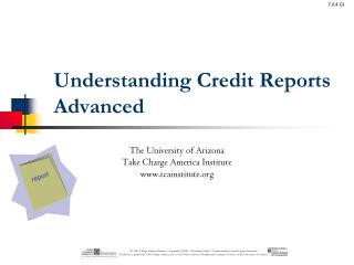 Understanding Credit Reports  Advanced