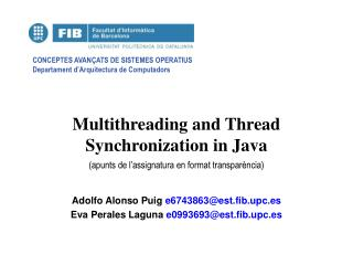 Multithreading and Thread Synchronization in Java