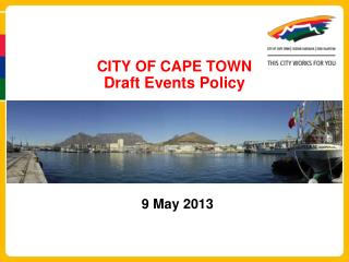 CITY OF CAPE TOWN  Draft Events Policy