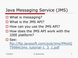 Java Messaging Service (JMS)