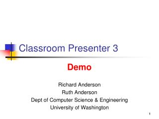 Classroom Presenter 3