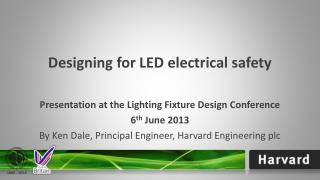 Designing for LED electrical safety