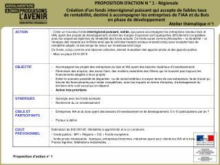 Proposition d'action n° 1