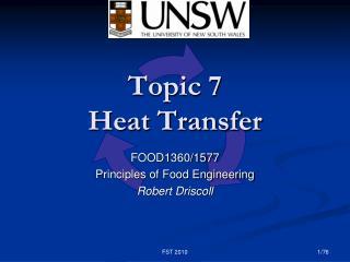 Topic 7 Heat Transfer