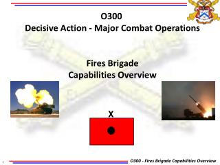 O300  Decisive Action - Major  Combat Operations Fires Brigade Capabilities Overview