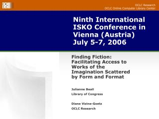 Ninth International ISKO Conference in Vienna (Austria) July 5-7, 2006