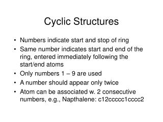 Cyclic Structures