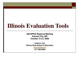 Illinois Evaluation Tools
