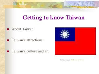 Getting to know Taiwan