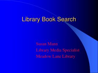 Library Book Search
