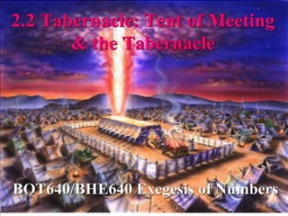 2.2 Tabernacle: Tent of Meeting  the Tabernacle