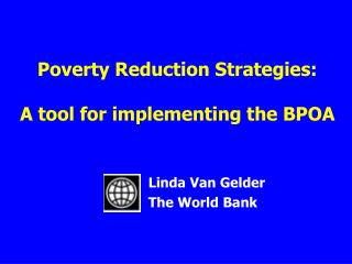 Poverty Reduction Strategies: A tool for implementing the BPOA